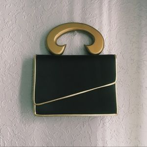 Vintage Black & Gold Purse